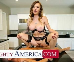 Naughty America - Natasha Starr Fucks her Husbands..