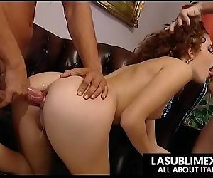 Redhead fucked by two guys!..