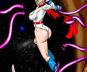 Power Girl vs Tentacles