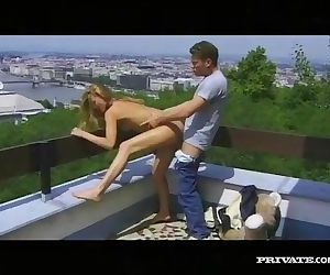 Nikky Andersson Rides Hard in the Terrace