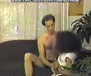 Small tittted ebony seduces man