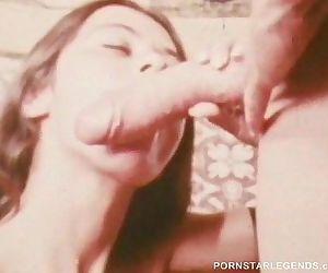 Classic porn slut takes 14 inch big cock