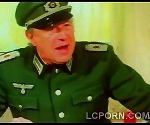 Beautiful blonde nurse fucks bunch of horny soldiers