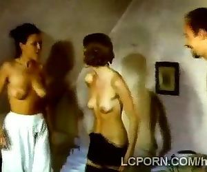 Coachman gets lucky with two filthy vintage hotties