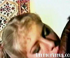 1970s Vintage Blonde, Interracial Threesome