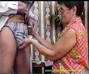 Classic porn with a hairy milf - 3 min
