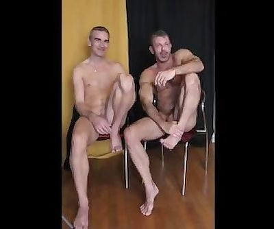 Two men undess