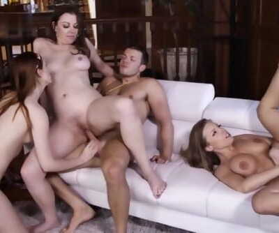 Retro Orgy, Girls With Bushy Pussies Fucking Hard