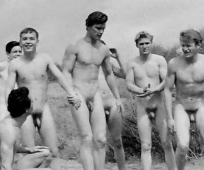 Vintage Boys Playing Sports... Nude