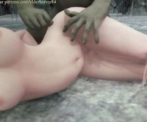 Monster hentai Orcs, thugs, and monsters gangbang a buxom beauty 18 min HD