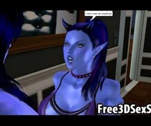 Horny 3D cartoon avatar aliens doing the nasty - 5 min