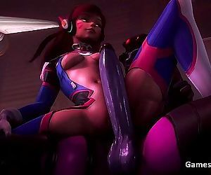 Overwatch Futa Widowmaker Fucks D.va 27 sec