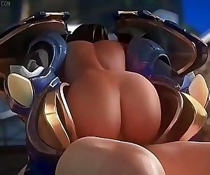 Pharah Riding Cock 1 min 21 sec HD