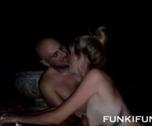 Real cuckold video wife shared outdoors - 14 min