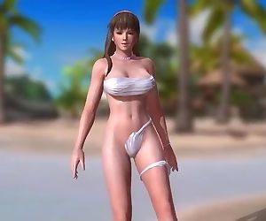 Dead or Alive 5 1.09BH - Hitomi Arrives at the Beach w/ Sexy Outfits