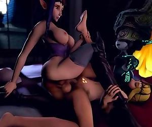 Jimahn - Princess Zelda, Princess Hilda, And Imp Midna Have A Threesome