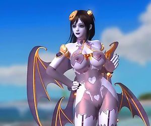 Dead or Alive 5 1.09BH - Succubus Honoka Dancing on the Beach #1 Halloween