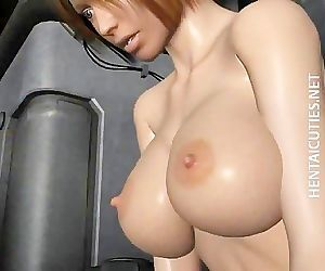Hot chesty 3D hentai bitch fuck dick