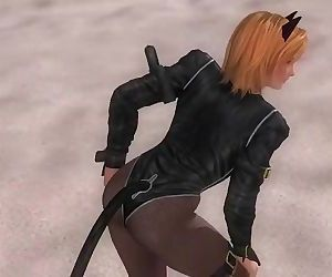 Dead or alive 5 Tina hot blonde in tight kitty outfits exposes her big butt