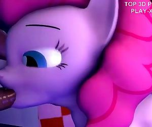 3D Hentai beauty pony deeply sucks in video game sex