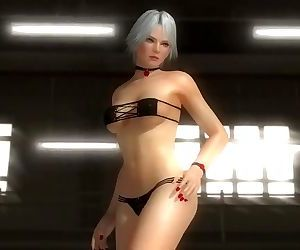 Dead or alive 5 sexy girls in tight bikini thong ass exposure win animation