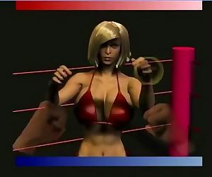 Video game nude female fistfighter