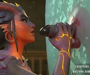 Girl sucks dick in the mirror - 3d sex game