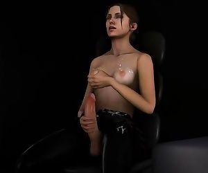3D FUTA SOUND EDIT - HUU SFM Left4Dead Zoey Futa solo jerkoff