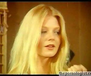 Hot lesbian threesome with Anne Magle in retro porn movie