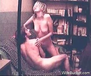 Vintage sex tape of amateur MILF wife