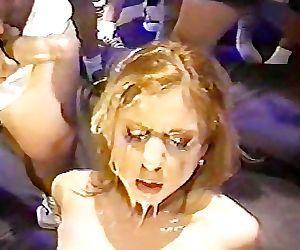 2 blonde sluts covered in cum