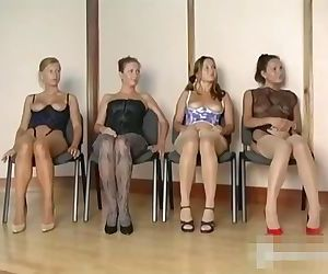 4 girls in thigts nylons stockings pantyhose