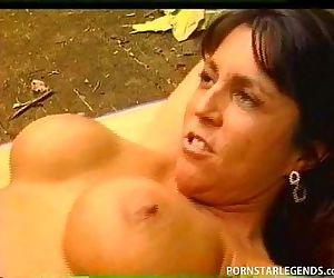 Two sluts fucked in the ass outside side by side