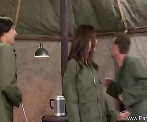 Sexy Army MILF Getting Attention - 7 min HD