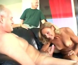 Anal cuckold in front of husband