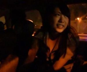 Japanese ghost hunters covert blowjob in car Subtitled - 3 min