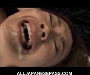 This fine Japanese babe gets a hot bukkake - 7 min