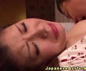 Japanese mature amateur enjoys anal - 5 min