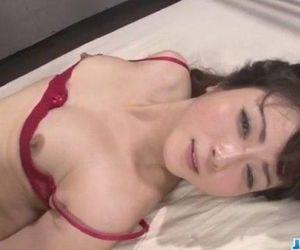 Serious threesome along babe in red lingerie Mizuki Ogawa - 12 min