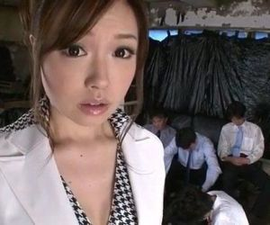Aiko Hirose gets fucked by all her office colleagues - 12 min