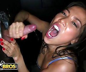 BANGBROSLily Ocean AKA Kalina Ryu Sucking Big Cocks Through Dank Glory Holes 12 min HD