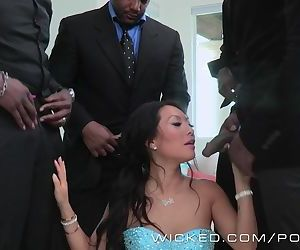 Wicked - Asa Akira takes four BBCs