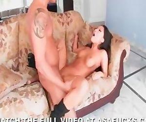 Asian Asa Akira Strips and Fucks Her Client HOT!