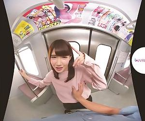 Tram Geeks Lucky Day! Japanese Teen VR Porn
