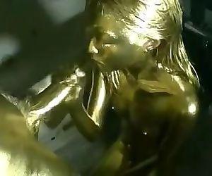 Golden Teen Japanese Body Paint