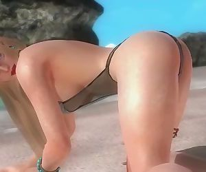 Dead or alive 5 Rachel hot blonde is a fucking slut who is addicted to cock