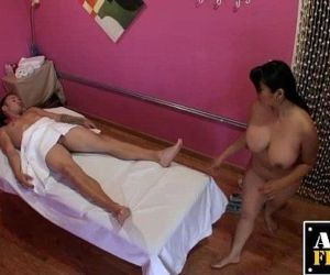 Mika Tan Gives A Massage And Blowjob - 5 min