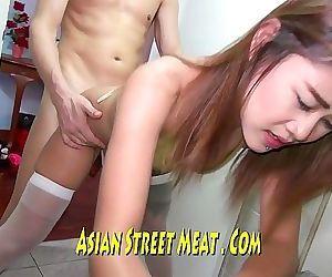 Bangkok Golden Lycra Gobbles Stairwell Slut 12 min HD