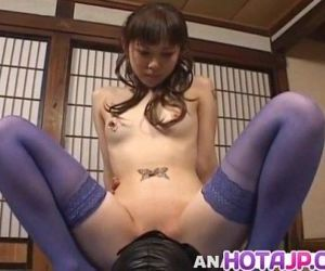 Tomoka Matsunami in lingerie rides masked man face with pussy - 10 min