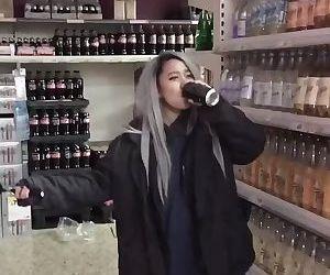 Drunk Slut Sucking Dick In A Public Store